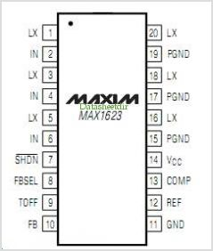 MAX1623 pinout,Pin out