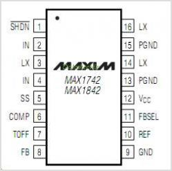 MAX1742 pinout,Pin out