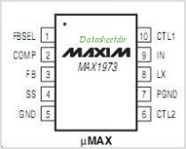 MAX1973 pinout,Pin out