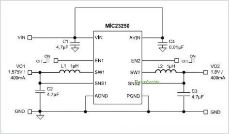 MIC23250-3BYMT circuits