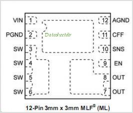 MIC33050 pinout,Pin out