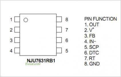 NJU7631 pinout,Pin out