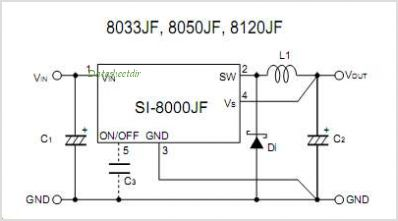SI-8050JF pinout,Pin out