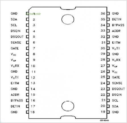 LNBH221 pinout,Pin out