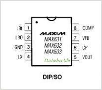 MAX632 pinout,Pin out