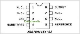 TDA1154 pinout,Pin out