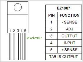 EZ1087 pinout,Pin out