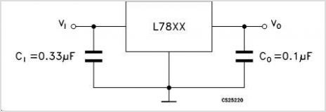 Which capacitors for L7805 regulator?