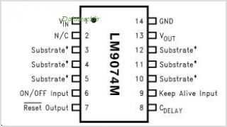 LM9074 pinout,Pin out