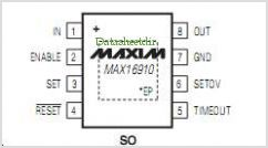 MAX16910 pinout,Pin out