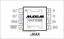 MAX16999 pinout,Pin out