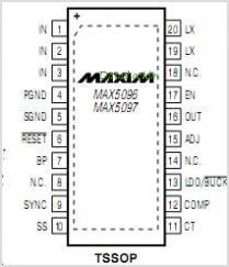 MAX5097 pinout,Pin out