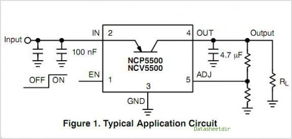 NCP5501 circuits
