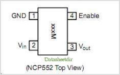 NCP552 pinout,Pin out