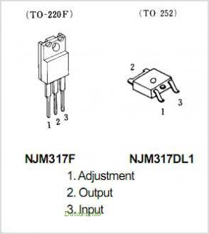 NJM317F pinout,Pin out