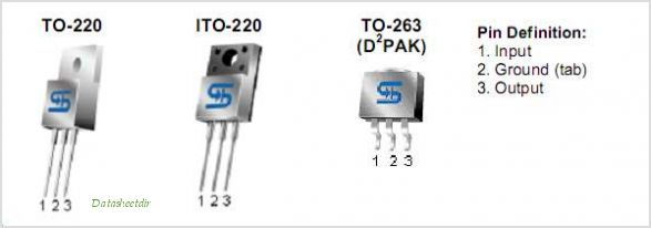 TS7805 pinout,Pin out