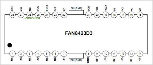 FAN8423D3 pinout,Pin out