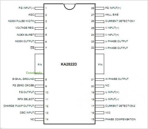 KA2822D pinout,Pin out