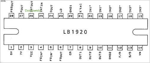LB1920 pinout,Pin out