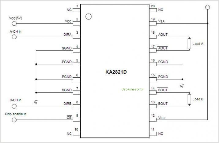Ka2821d datasheet pinout application circuits the ka2821d is a ka2821d circuits sciox Images