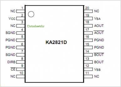 Ka2821d datasheet pinout application circuits the ka2821d is a ka2821d pinoutpin out sciox Images
