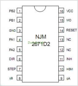 NJM2671 pinout,Pin out