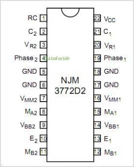 NJM3772 pinout,Pin out