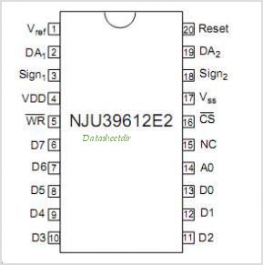 NJU39612 pinout,Pin out