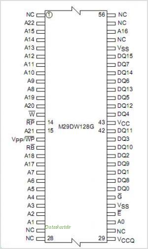 M29DW128G pinout,Pin out