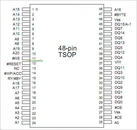 W19B320BT pinout,Pin out