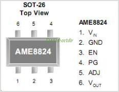 AME8824 pinout,Pin out