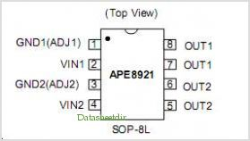 APE8921 pinout,Pin out