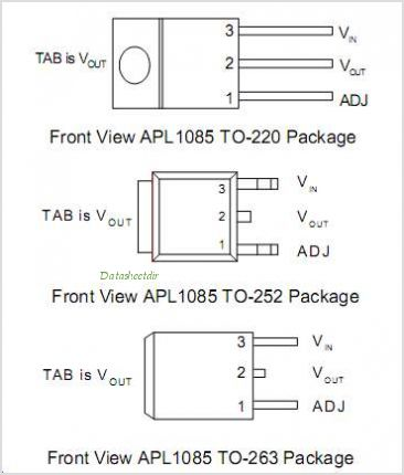 APL1085 pinout,Pin out
