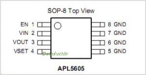 APL5605 pinout,Pin out