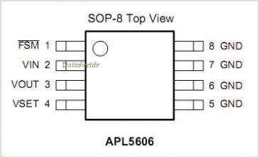 APL5606 pinout,Pin out