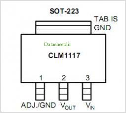 CLM1117M-X pinout,Pin out