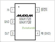 MAX1726 pinout,Pin out