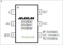 MAX8841 pinout,Pin out