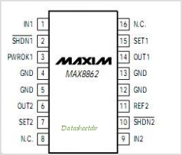 MAX8862R pinout,Pin out