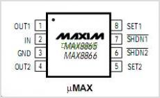 MAX8865S pinout,Pin out