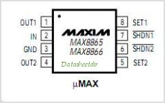 MAX8866S pinout,Pin out