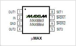 MAX8866TEUA-T pinout,Pin out