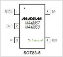 MAX8868EUK50 pinout,Pin out