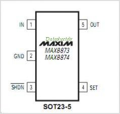 MAX8874S pinout,Pin out