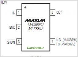 MAX8891 pinout,Pin out