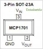 MCP1701 pinout,Pin out