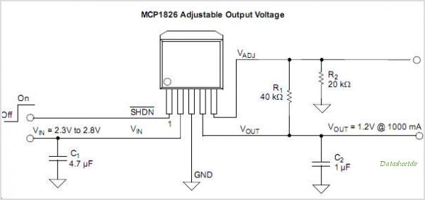 MCP1826S-5002E-DB circuits