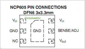 NCP605 pinout,Pin out