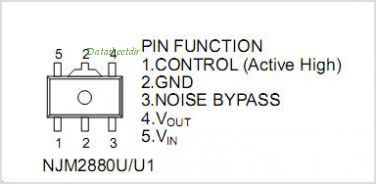 NJM2880U1-21 pinout,Pin out