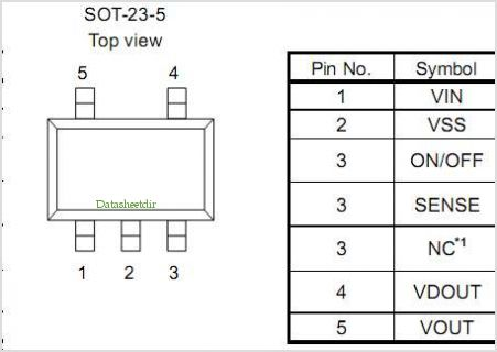 S-1701 pinout,Pin out